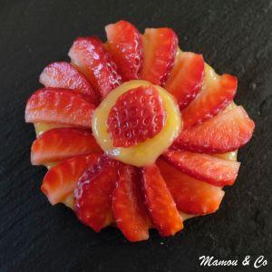 Tartelettes acidulées aux fraises et aux spéculoos