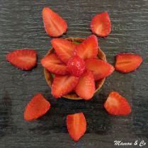 Tartelettes fraises/kiwi sur pâte aux spéculoos