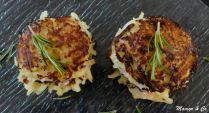 Croque-röstis au chèvre frais et jambon fumé