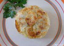 Gratin de pommes de terre à l'ail et au gorgonzola
