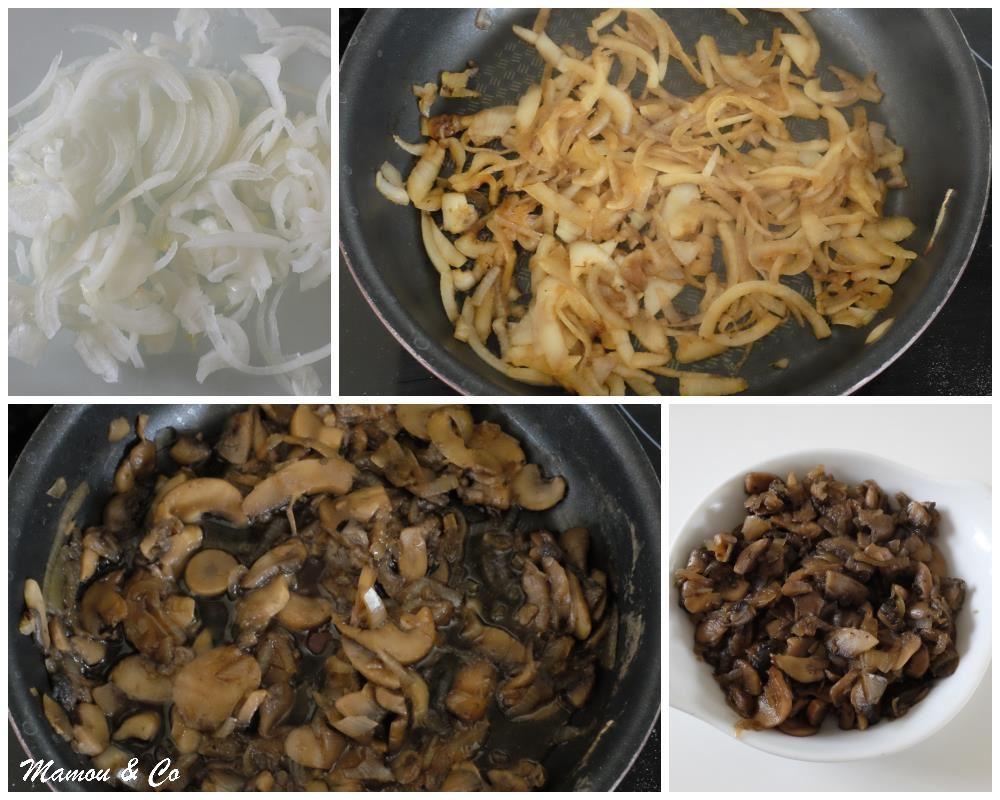 Tarte fine aux champignons et gorgonzola   Mamou & Co