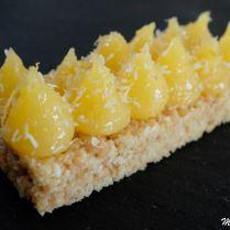 Tartelettes citron sur croustillant coco