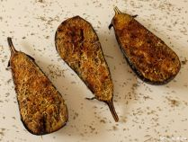 Aubergines gratinées au pesto