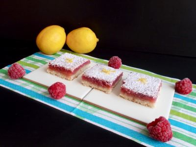 lemon rasppberry bars