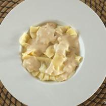 Ravioli au foie gras et pommes confites