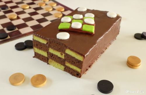 cake damier chocolat pistache_2