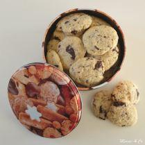 Cookies au beurre de coco et pépites de chocolat