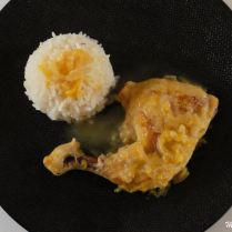 Cuisse de poulet à l'orange et au curry