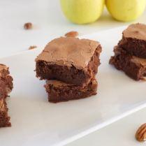 Brownie sans beurre à la compote de pommes