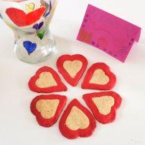 Sablés cœur bicolores aux amandes pour Maman