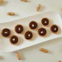 Mini-tartelettes ganache chocolat et cacahuètes