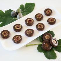 Bouchées fondantes au chocolat, figues et fève tonka