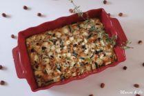 Clafoutis aux courgettes, noisettes et fromage de chèvre