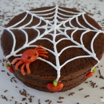 Molly cake au chocolat aux couleurs de Halloween